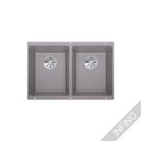 Keittiöallas Blanco Subline 350/350-U InFino Silgranit Alumetallic