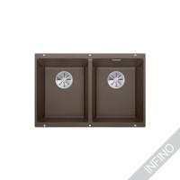 Keittiöallas Blanco Subline 350/350-U InFino Silgranit Coffee