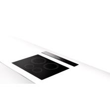 Työtasosta nouseva liesituuletin Faber Fabula RB 90 cm Musta lasi / Teräs