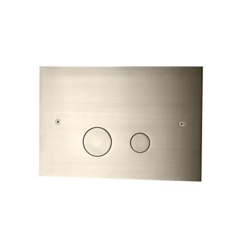 Brushed Nickel Seinä WC:n huuhtelupainike   Tapwell DUO112