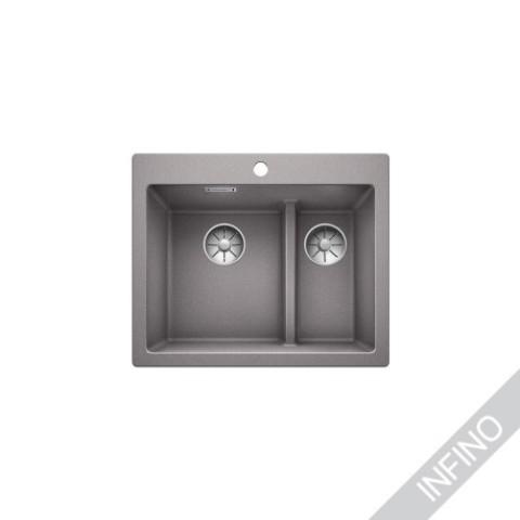 Keittiöallas Blanco Pleon 6 Split Silgranit Alumetallic