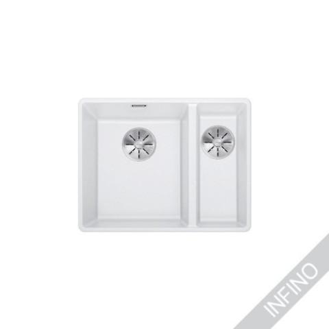 Keittiöallas Blanco Subline 340/160-F Silgranit Valkoinen, vasen
