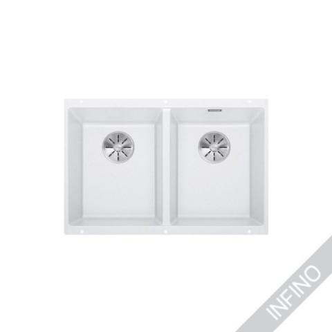 Keittiöallas Blanco Subline 350/350-U InFino Silgranit Valkoinen