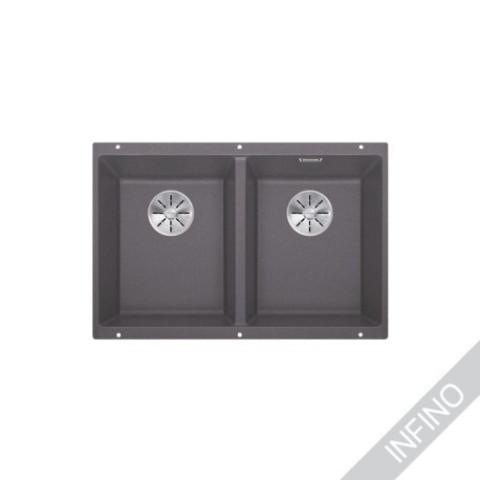 Keittiöallas Blanco Subline 350/350-U InFino Silgranit Kallionharmaa